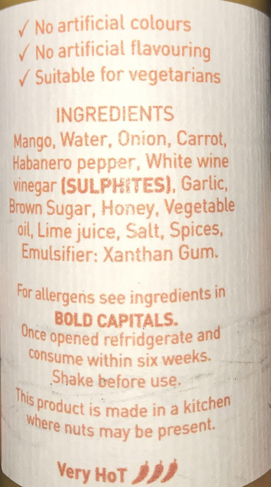 Mangonero – Mango and Habanero HoT Sauce 150ml at Henley Circle Online Shop