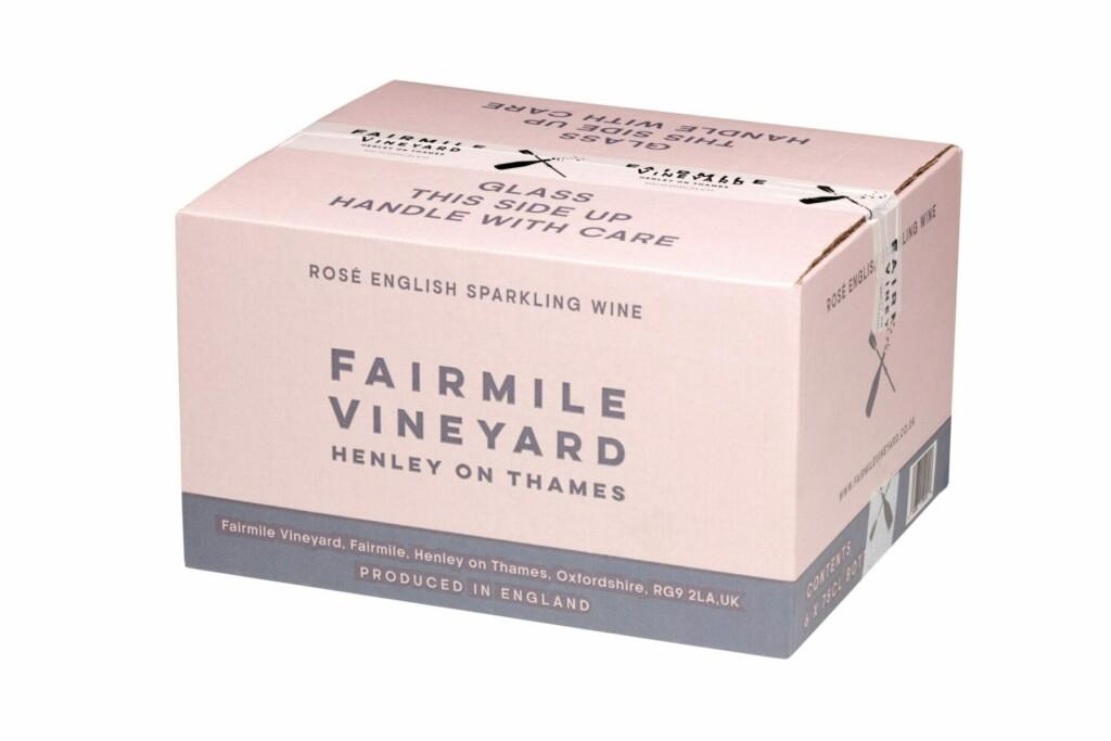 Case of 6 bottles Fairmile Vineyard Henley On Thames sparkling rosé at Henley Circle Online Shop
