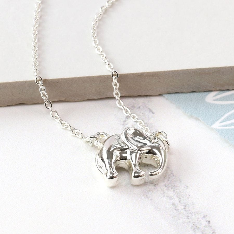 Silver Plated Elephant Necklace at Henley Circle Online Shop