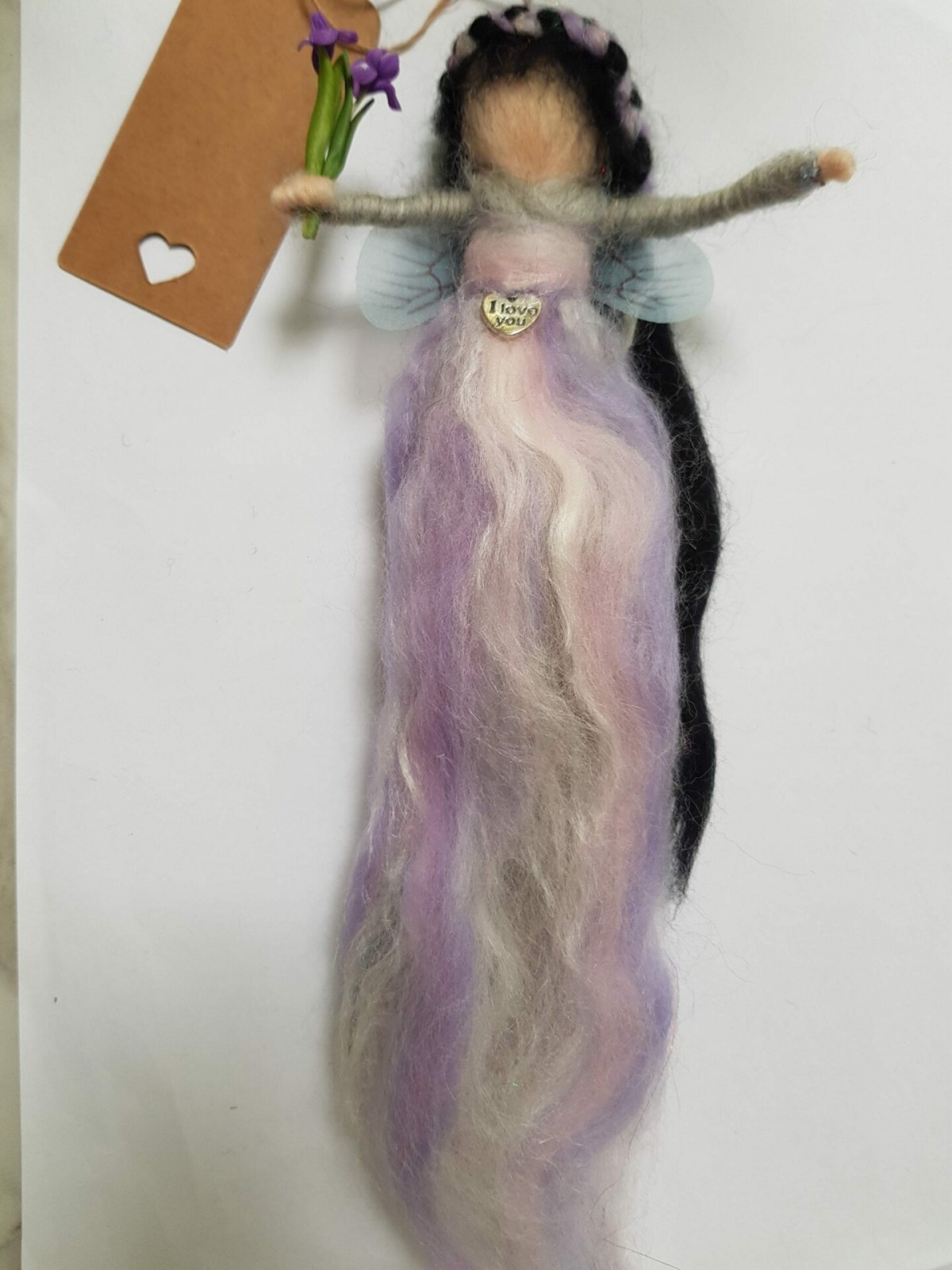 Felted lilac fairy at Henley Circle Online Shop