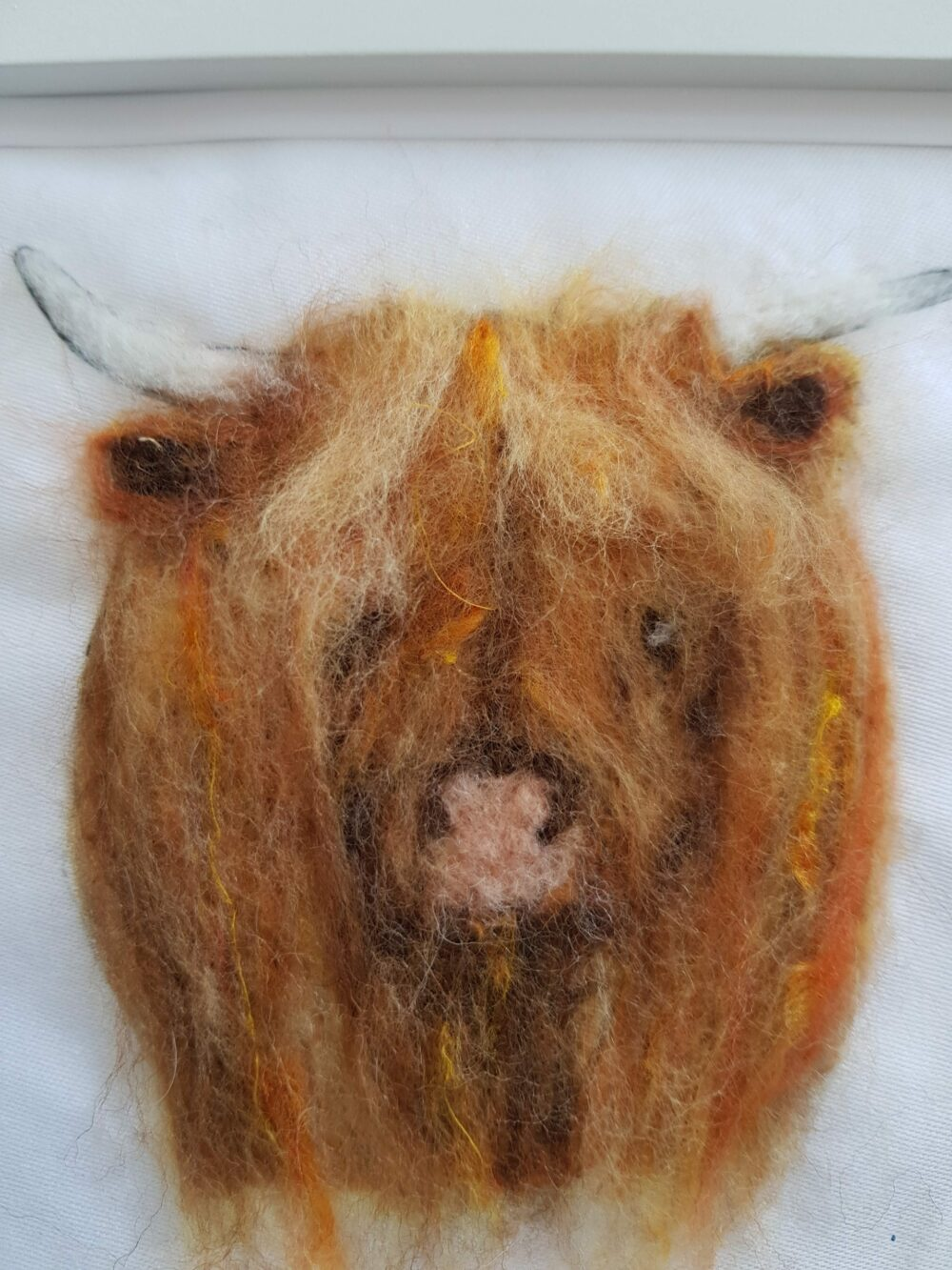 Felted Highland cow at Henley Circle Online Shop