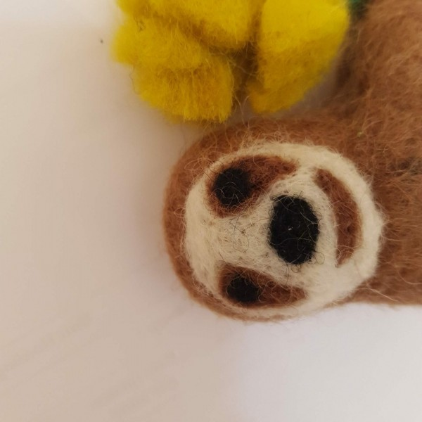 "Hanging "" Stanley"" Sloth with flower at Henley Circle Online Shop"