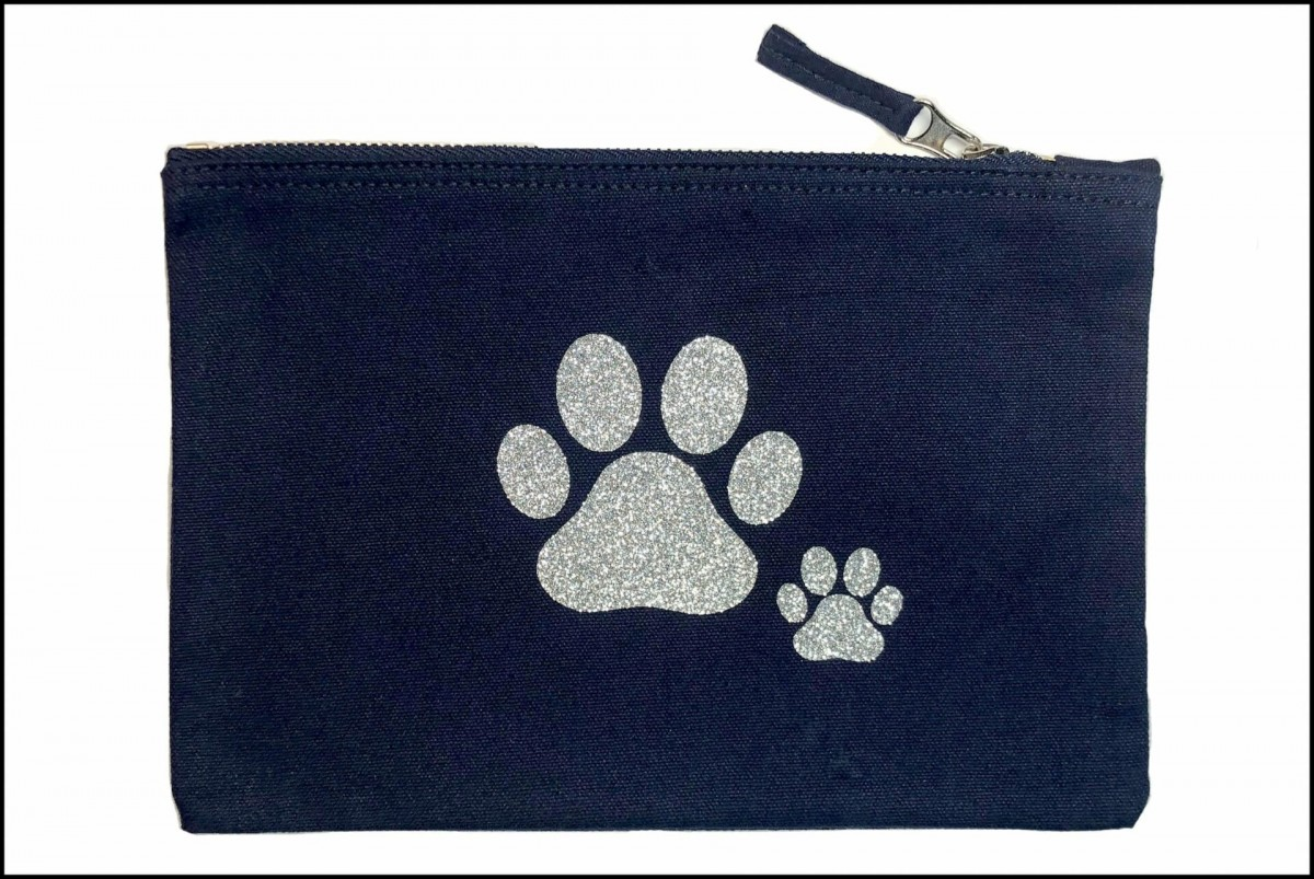 Double Paw Print Accessory Bags at Henley Circle Online Shop