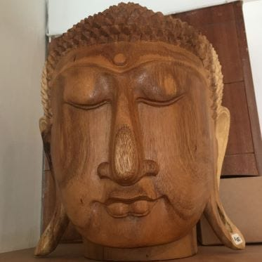 Beautiful Carved Wooden Buddha Head at Henley Circle Online Shop