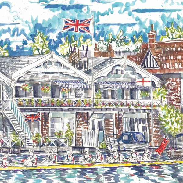 View from Leander Club card by Kirsten Jones at Henley Circle Online Shop