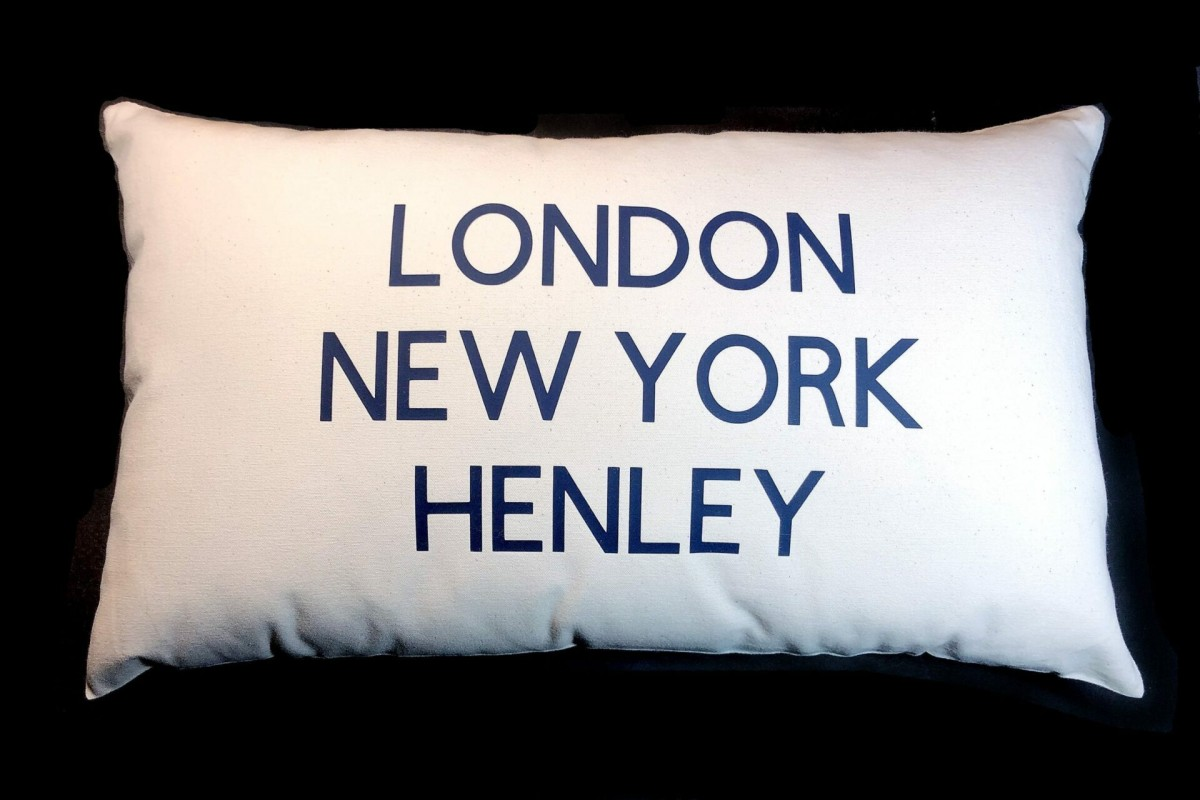 Personalised Three Town Cushion at Henley Circle Online Shop