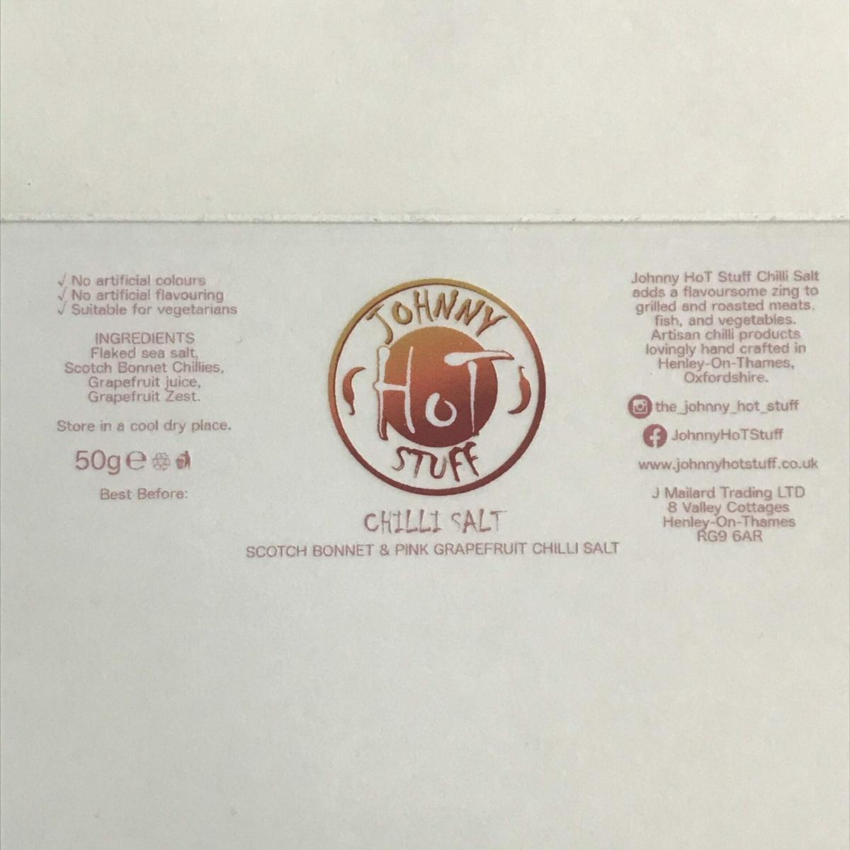 Scotch Bonnet and Pink Grapefruit Chilli Salt 50g at Henley Circle Online Shop