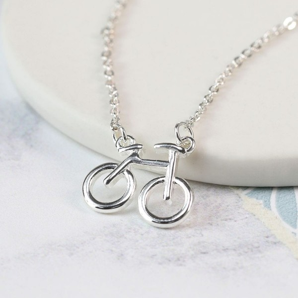 Silver plated bicycle necklace at Henley Circle Online Shop