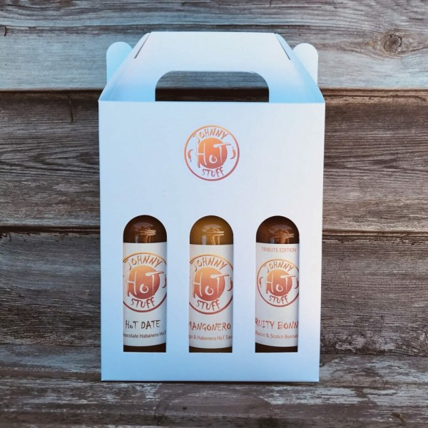 The Johnny HoT Stuff HoT Sauce Triple Bottle Gift Pack – 3 x 150ml at Henley Circle Online Shop