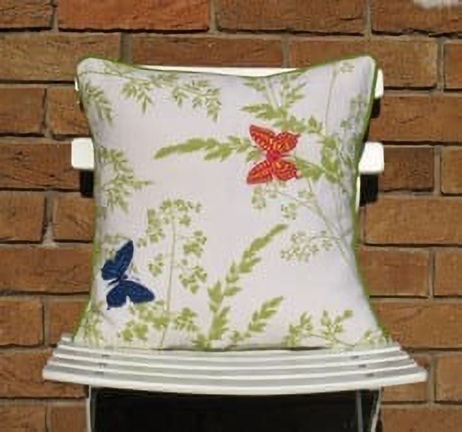 Butterflies and Leaves Cushion at Henley Circle Online Shop