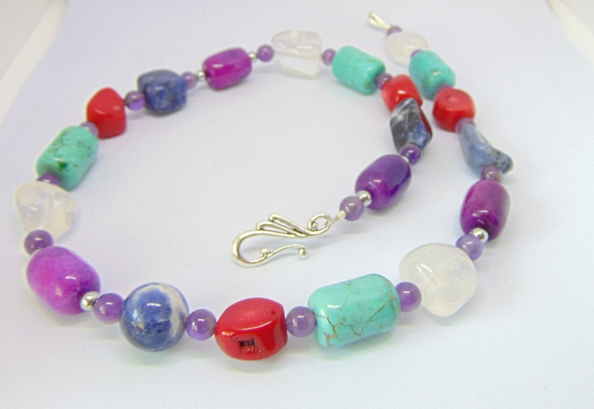 Mixed Gemstone Necklace, Brights at Henley Circle Online Shop