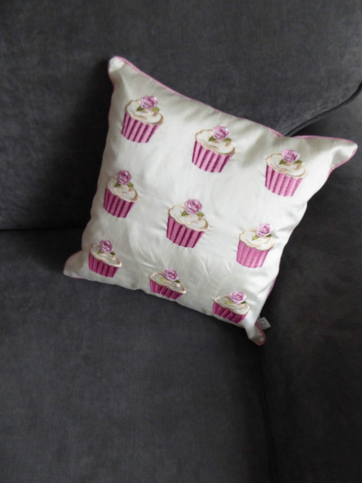 Baby Pink Cupcake Cushion at Henley Circle Online Shop