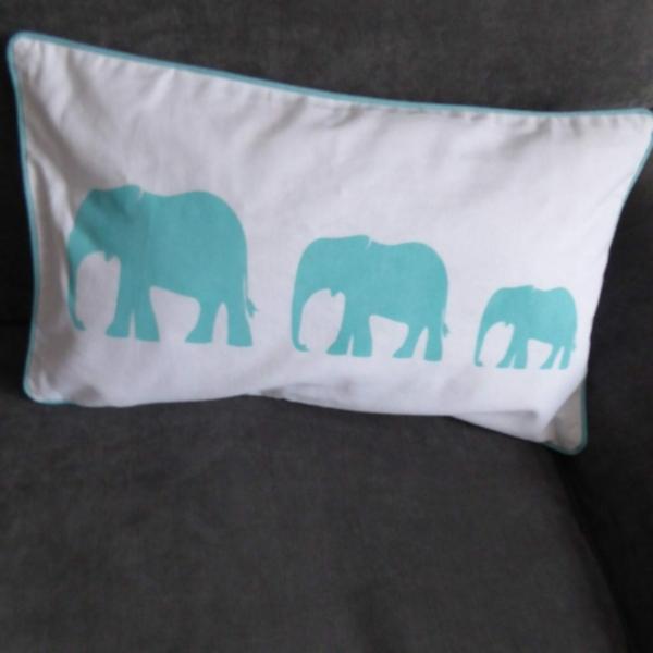 Elephant Aqua Cushion at Henley Circle Online Shop