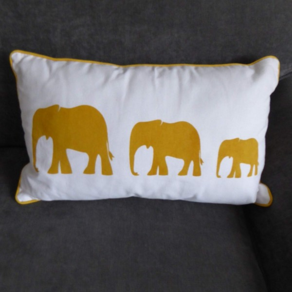 Elephant Ochre Cushion at Henley Circle Online Shop