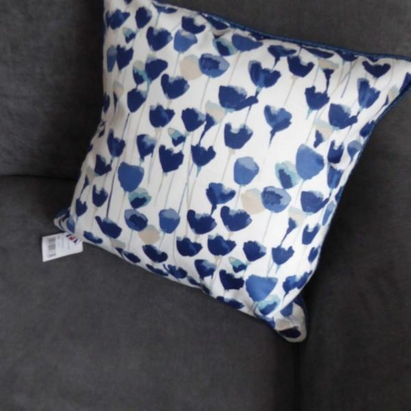 Watercolours Tulipa Navy Cushion Cover at Henley Circle Online Shop