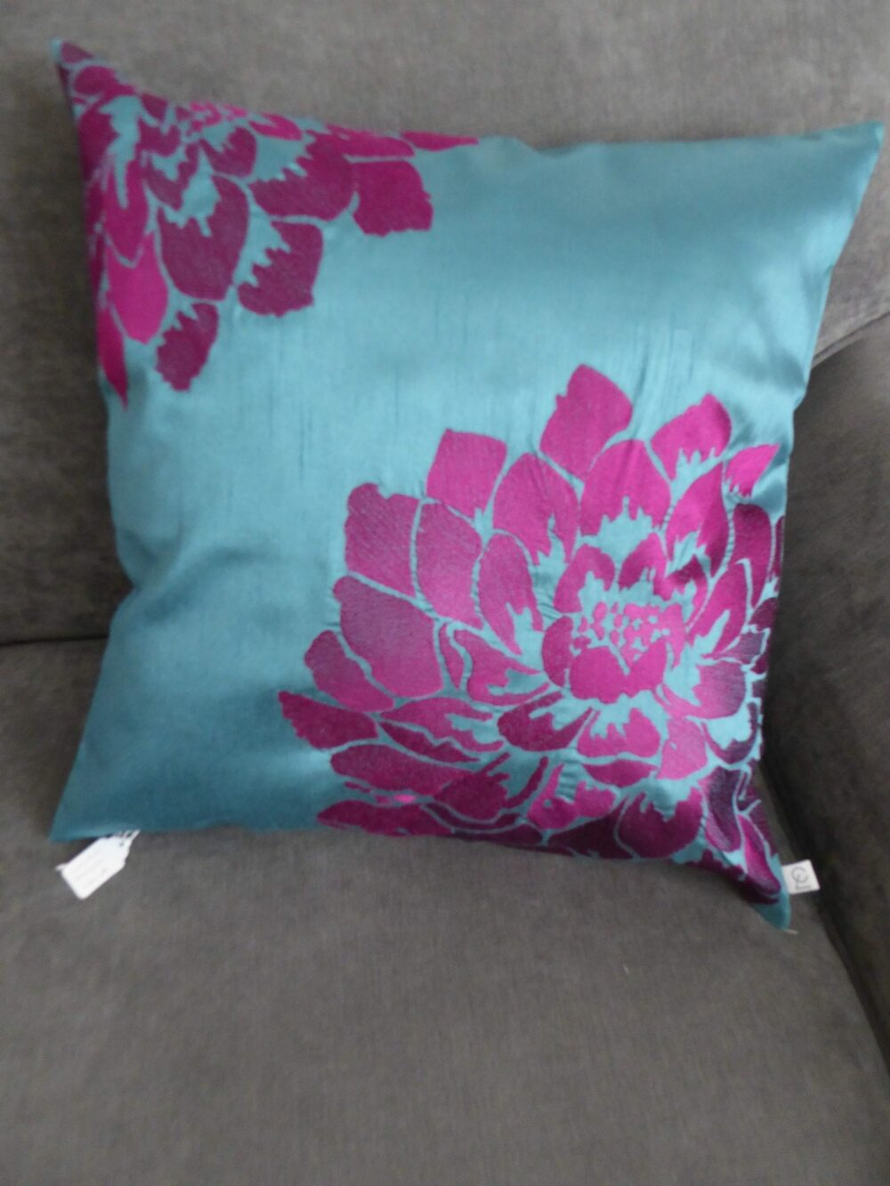 Bright Floral Teal Cushion Cover at Henley Circle Online Shop