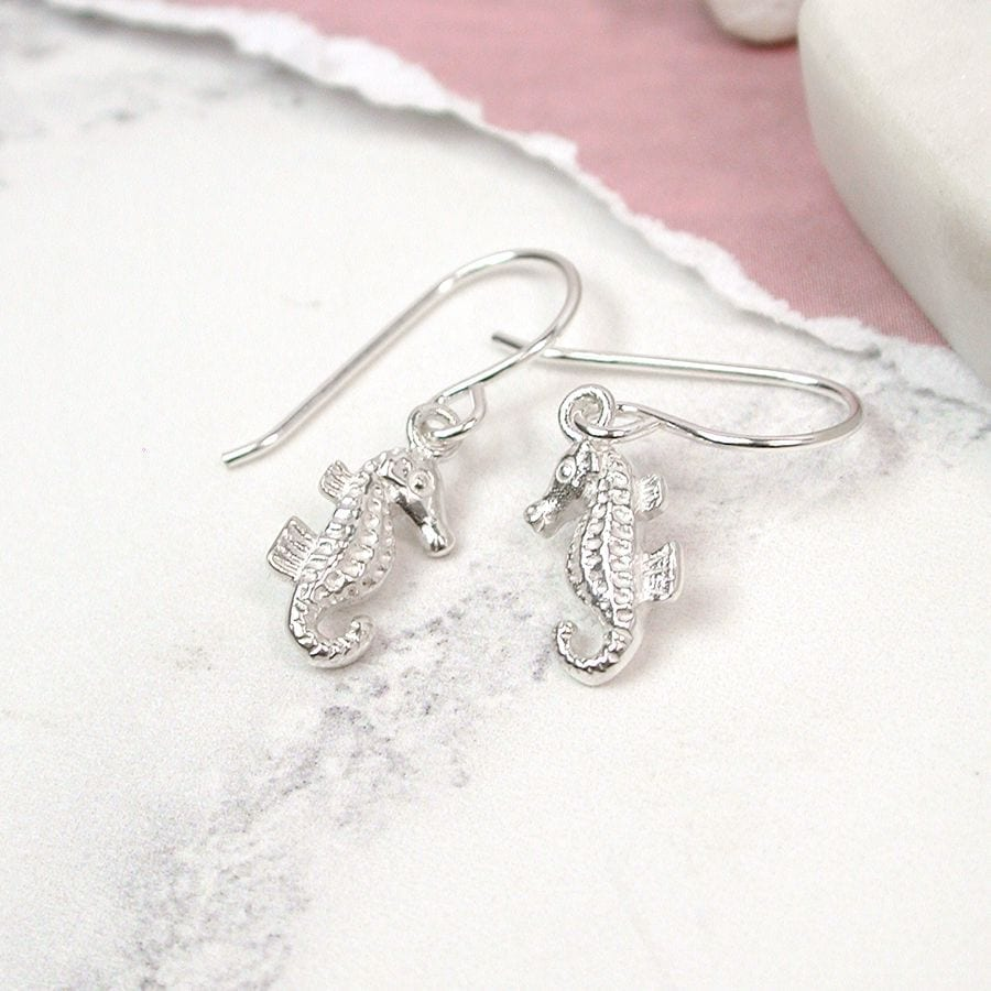 Sterling Silver Seahorse Drop Earrings at Henley Circle Online Shop