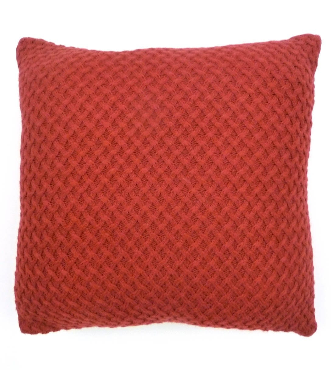 Red Woollen Lattice Cushion cover at Henley Circle Online Shop