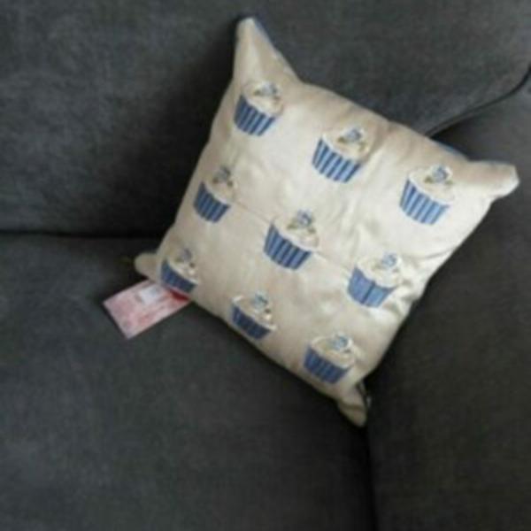 Baby Blue Cupcake Cushion at Henley Circle Online Shop