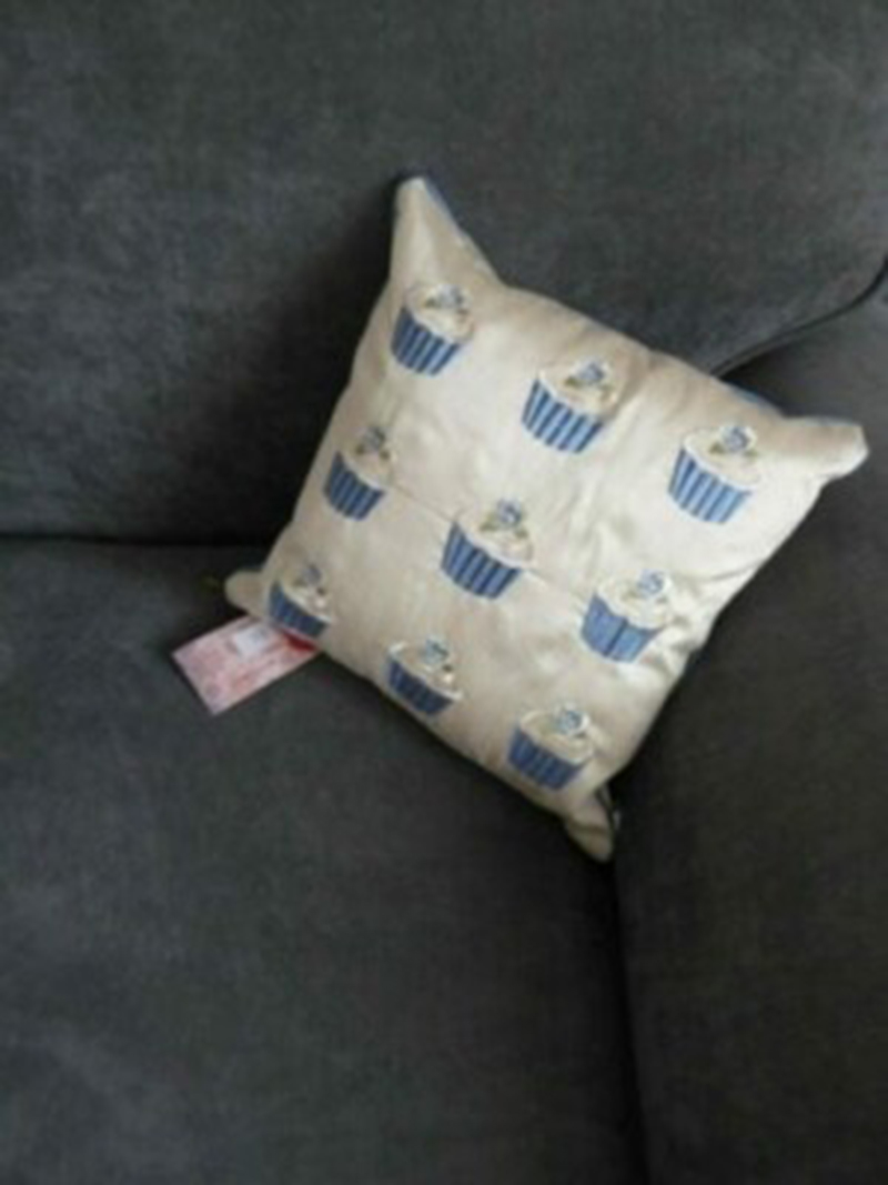 Baby Blue Cupcake Cushion at Henley Circle Online Shop