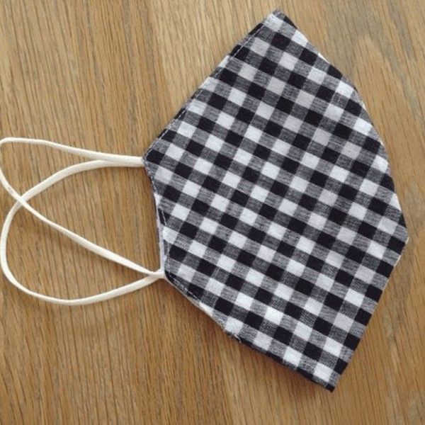 Black Gingham Pocket Facemask at Henley Circle Online Shop