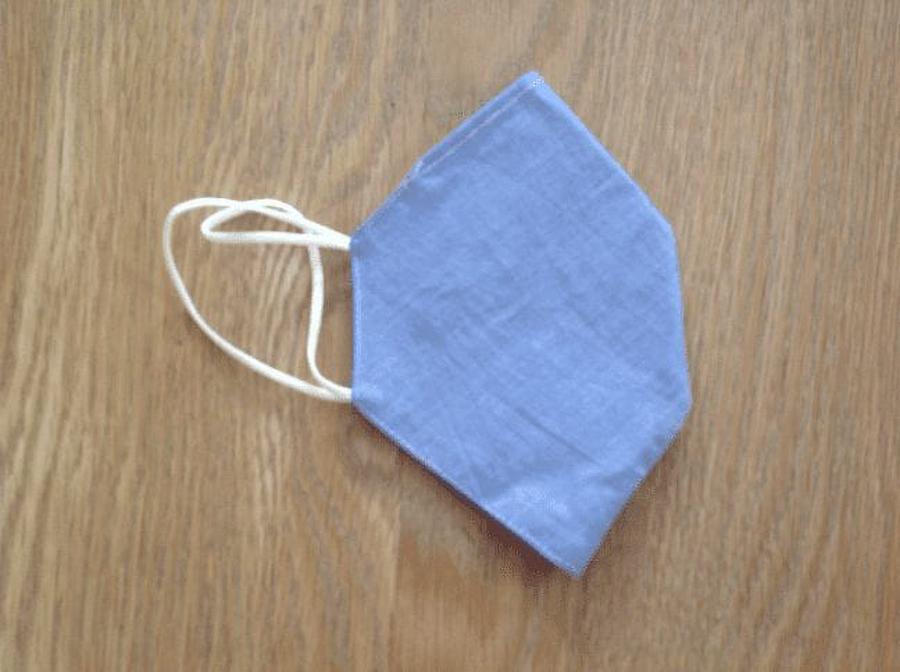 Plain Blue Pocket Facemask at Henley Circle Online Shop