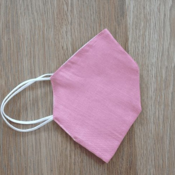 Plain Pink Pocket Facemask