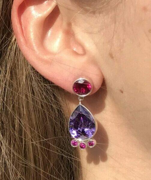 Pheme Post Drop Earrings – Cubic Zirconia at Henley Circle Online Shop