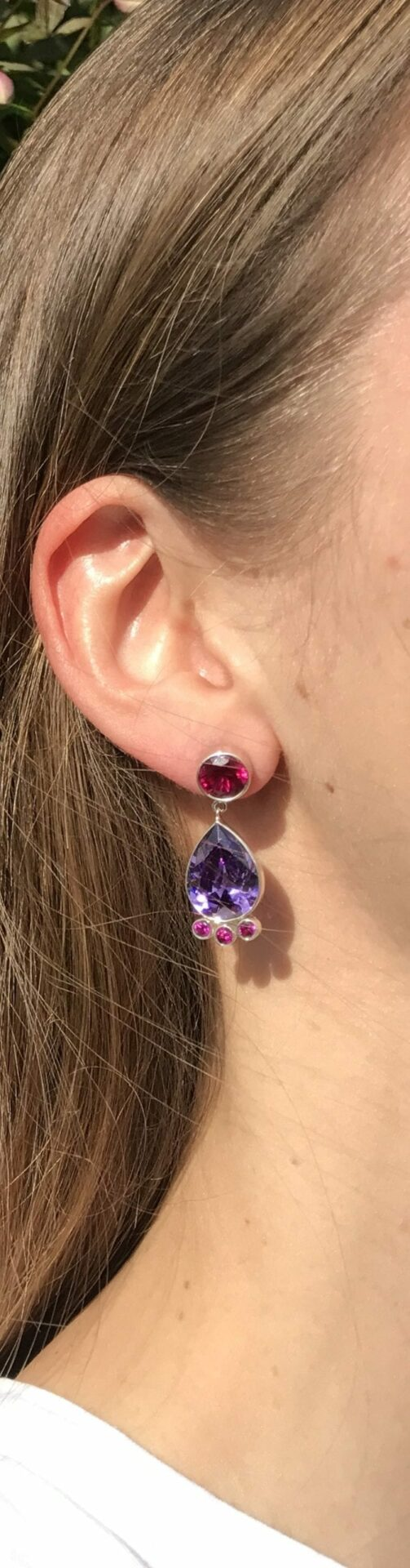 Pheme Post Drop Earrings – Cubic Zirconia at Henley Circle Online Shop