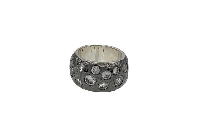 Astraea Ring – Sterling Silver and Rhodium Plated at Henley Circle Online Shop