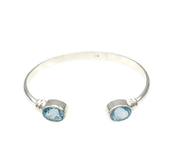 Bia Bangle – Blue Topaz at Henley Circle Online Shop