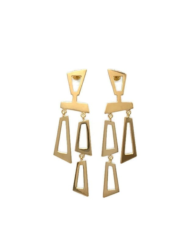 Curis Post Earrings – Gold Plated Sterling Silver at Henley Circle Online Shop