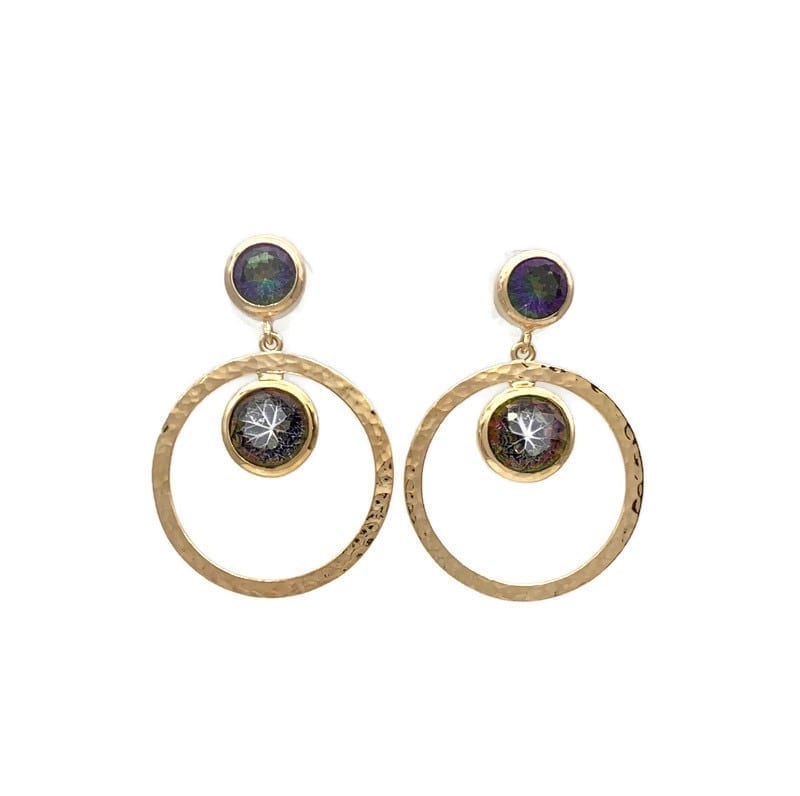 Tisella Post Drop Earrings – Mystic Topaz at Henley Circle Online Shop