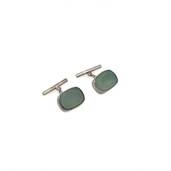 Circe Cufflinks -Aqua Chalcedony at Henley Circle Online Shop