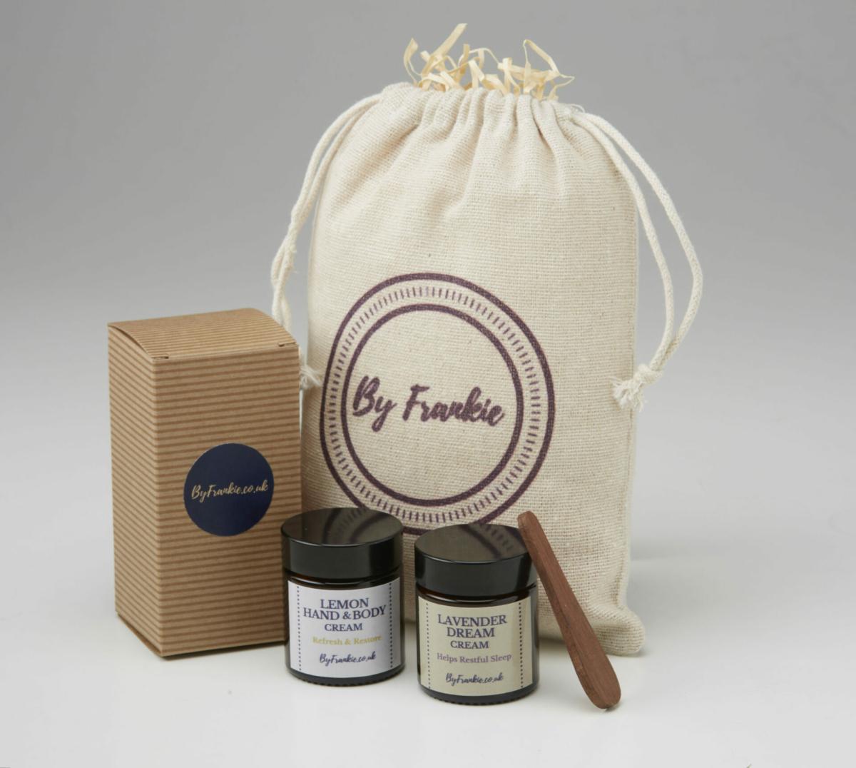 Lemon hand cream and Lavender body cream gift set at Henley Circle Online Shop