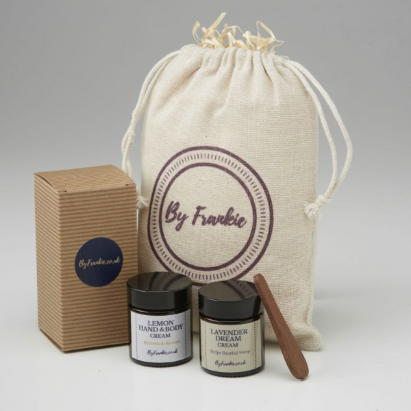 Lemon hand cream and Lavender body cream gift set at Henley Circle Online Shop