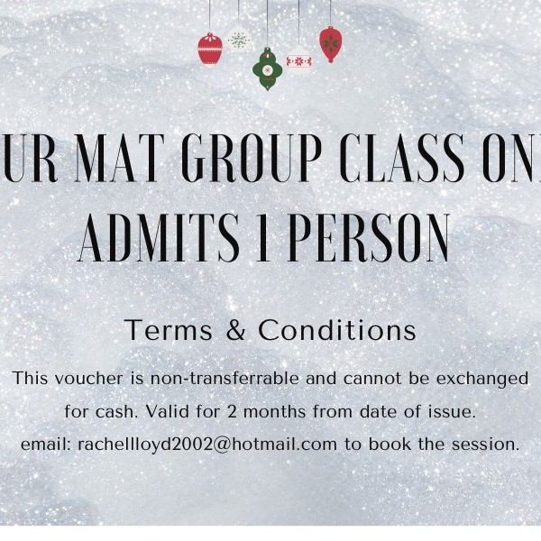 1 Hour Pilates Mat Group Class Gift Voucher via Zoom at Henley Circle Online Shop