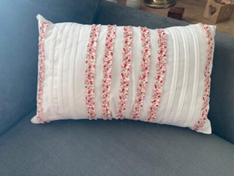 Jayne White Floral Cushion at Henley Circle Online Shop