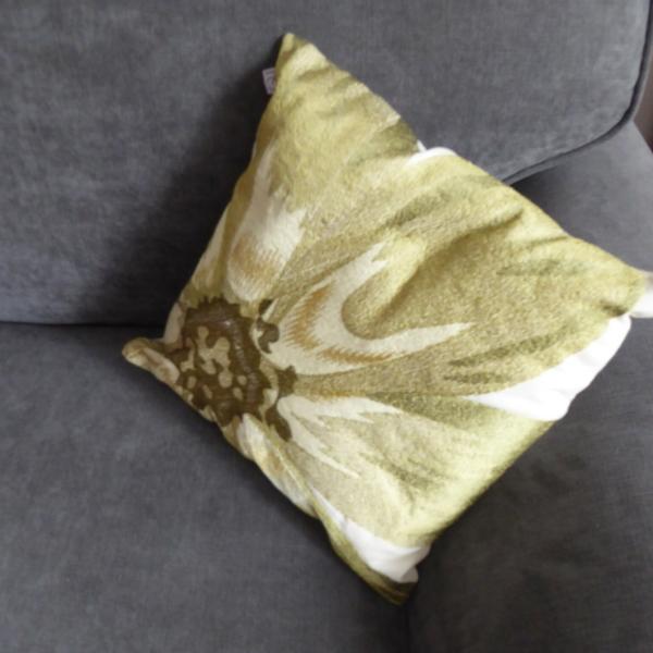 Green Daisy Cushion at Henley Circle Online Shop
